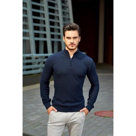 Sweter Rozpinany pod szyją LOUIS 02